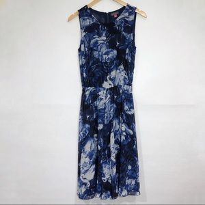 Vince Camuto Blue Floral Dress w/ Elastic Waist